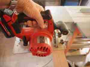 Milwaukee battery powered circular saw